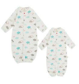 Tiny Twig Tiny Twig Organic Convertible Sleepsuit Home School