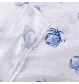 Little Hometown Blue Crab Bamboo Swaddle