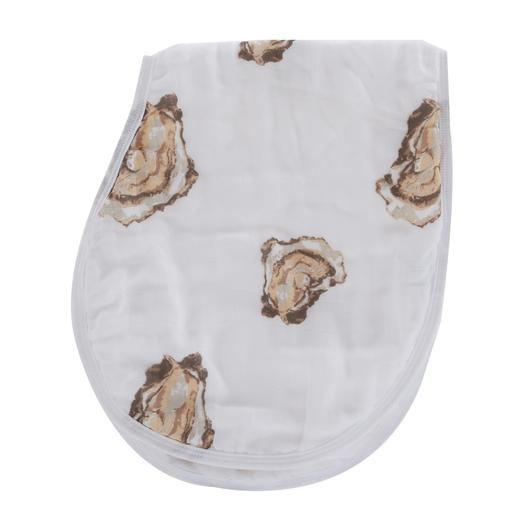 Little Hometown Aw Shucks! Oyster 2-in-1 Burp Cloth Bib