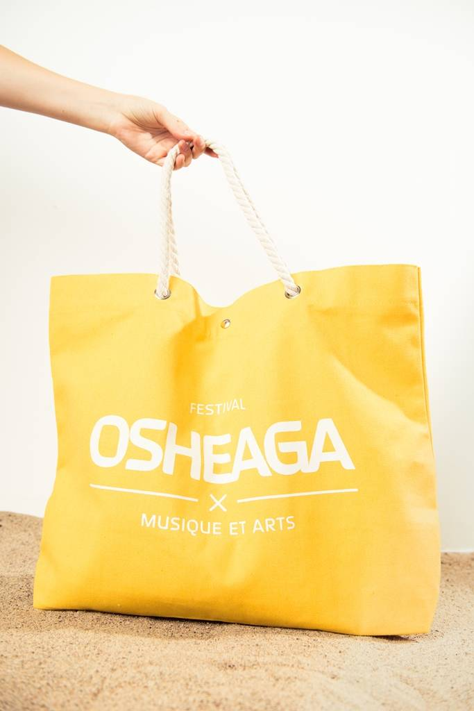 Osheaga M&A LOGO YELLOW BEACH BAG
