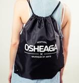Osheaga M&A LOGO BLACK DRAWSTRING