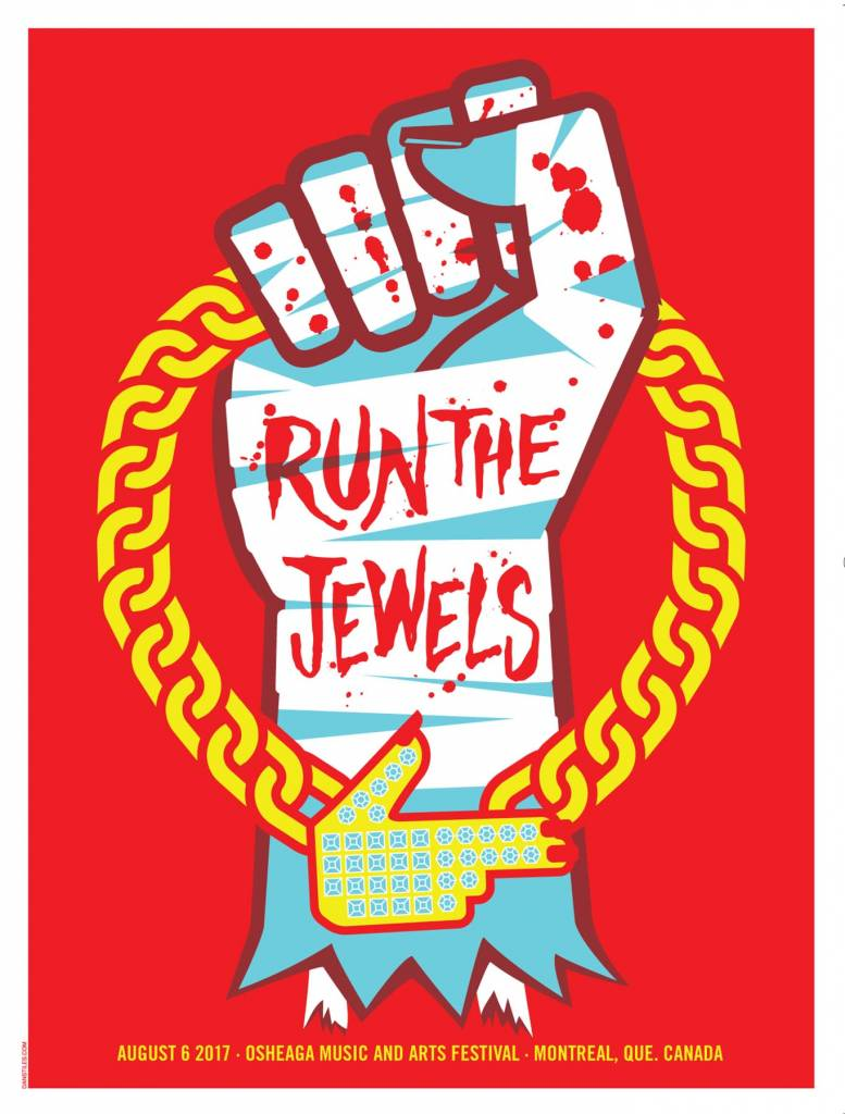 Musique sur papier LITHOGRAPHIE RUN THE JEWELS
