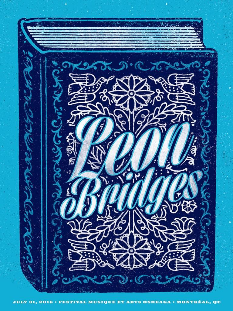 SCREEN PRINT POSTER LEON BRIDGES