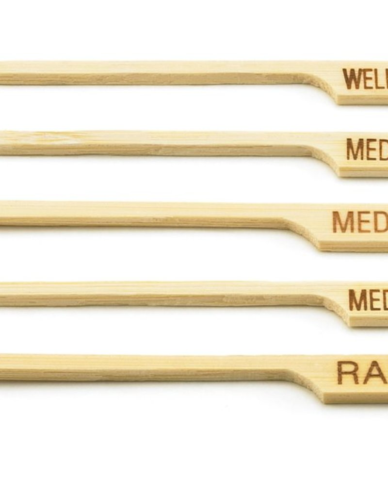 """Tablecraft Bamboo Pick, """"WELL DONE"""", 3-1/2"""""""