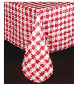 """Winco Square Table Cloth, Red, 52"""" x 52"""""""