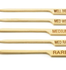 "Tablecraft Bamboo Pick, ""MED RARE"", 3-1/2"""