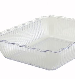 "Winco Deli Crock, 13"" x 10"" x 3"", Clear"