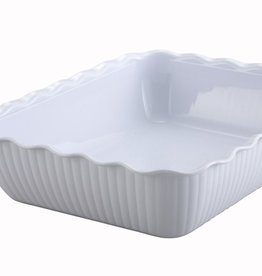 "Winco Deli Crock, 13"" x 10"" x 3"", White"