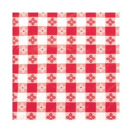 "Winco Oblong Table Cloth, Red, 52"" x 70"""