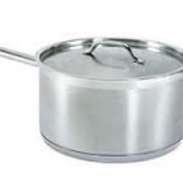 Thunder Group Sauce Pan w/Lid, S/S, 6 Qt