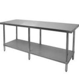Thunder Group Work Table, Stainless Steel Top