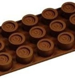 Fat Daddio's Swirled Cylinder Candy Mold, 15 Cavities
