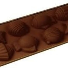 "Fat Daddio's Shells Candy Mold, 8-1/4"" x 4-1/8"""