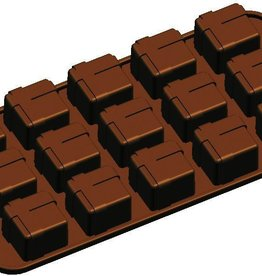 "Fat Daddio's Gift Box Candy Mold, 8-1/4"" x 4-1/8"""