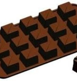 Fat Daddio's Tiered Square Candy Mold, 15 Cavities