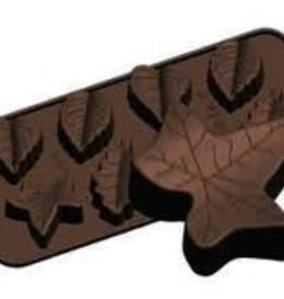 Fat Daddio's Fall Leaf Candy Mold, 8 Cavities