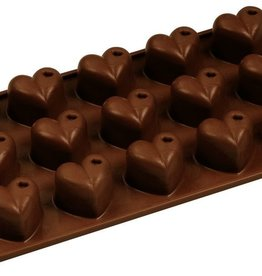 Fat Daddio's Dimpled Heart Candy Mold, 15 Cavities