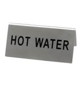 "Update International Tent Sign, S/S, ""Hot Water"""