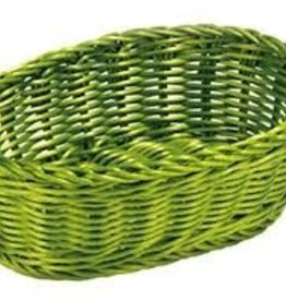"Tablecraft Oval Basket, Green, 9-1/4"" x 6-1/4"""