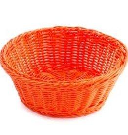 """Tablecraft Round Basket, Orange, 8-1/4"""""""
