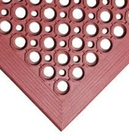 "Apex Rubber Mat, 3' x 5' x 1/2"", Red"