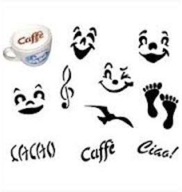 Paderno Cappuccino Stencils