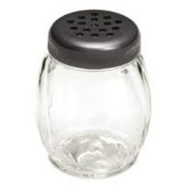 Tablecraft Plastic Shaker, Black Perf Top, 6 oz