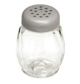Tablecraft Plastic Swirl Shaker, Gray Perf Top, 6 oz