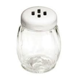 Tablecraft Plastic Shaker, White Slot Top, 6 oz