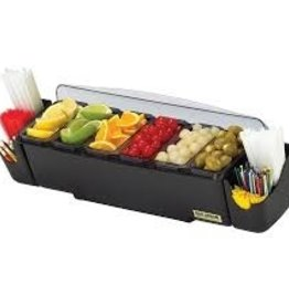 San Jamar Garnish Center, 6 Trays, 3 Qt
