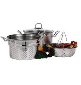 Norpro Steamer/Cooker Set, S/S, 8 Qt