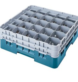 Cambro Dishwasher Rack, 20 Comp, Teal