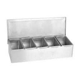 Thunder Group Condiment Dispenser, 5 Compartment