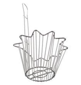 "Thunder Group Taco Salad Bowl Fryer Basket, 8"" x 5"" Deep"