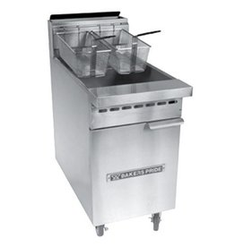 Baker's Pride Deep Fryer, Gas, 40 lb