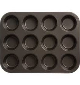 Thunder Group Non-Stick Muffin Pan, Tin, 12 Cup
