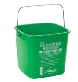 Winco Cleaning Bucket, 3 Qt, Green