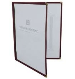 """Thunder Group Double Menu Cover, Maroon, 8-1/2"""" x 11"""""""