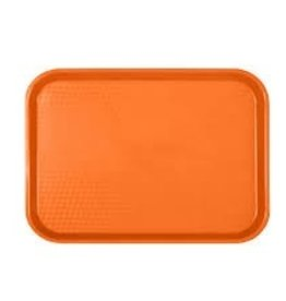 "Thunder Group Fast Food Tray, 12"" x 16-3/4"", Orange"