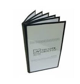 "Thunder Group Book Menu Cover, BLack, 7-1/2"" x 13-1/4"""