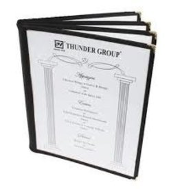 "Thunder Group Book Menu Cover, Black, 8-1/2"" x 11"""