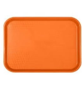 "Thunder Group Fast Food Tray, 14"" x 17-3/4"", Orange"