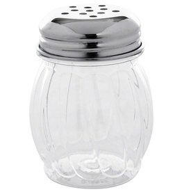 Tablecraft Plastic Swirl Shaker, Perf Top, 6 oz