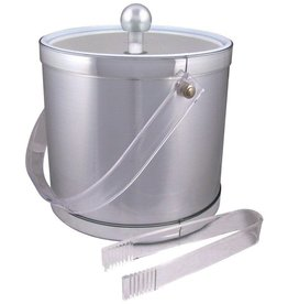 American Metalcraft Ice Bucket w/ Tongs, 3 Qt