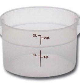 Cambro Food Storage Container, 2 Qt