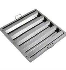 "Winco Hood Filter, S/S, 20"" x 16"""