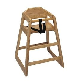 Update International High Chair, Natural Wood