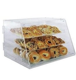 "Update International Pastry Display, 3 Tray, 21"" x 17.25"" x 16.5"""