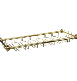"Update International Glass Rack, Brass Pltd, 36"" x 14"""