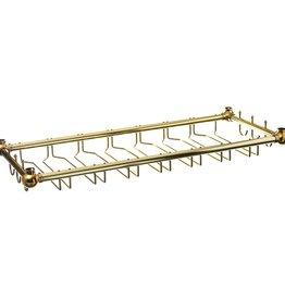 """Update International Glass Rack, Brass Pltd, 36"""" x 14"""""""